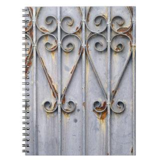 ヴィンテージのsteampunkの金属のハートパターン上品の写真 ノートブック