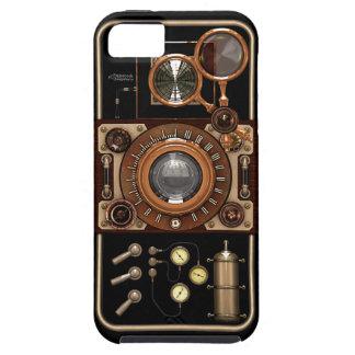ヴィンテージのSteampunk TLRのカメラ#2B iPhone SE/5/5s ケース