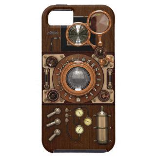 ヴィンテージのSteampunk TLRのカメラ iPhone SE/5/5s ケース
