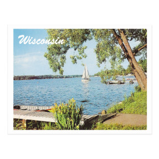 ヴィンテージのsummer湖 ポストカード