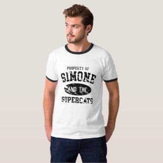 ヴィンテージのSupercatsの大学信号器 Tシャツ