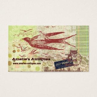 ヴィンテージのThumbelinaのコラージュのプロフィールカード 名刺