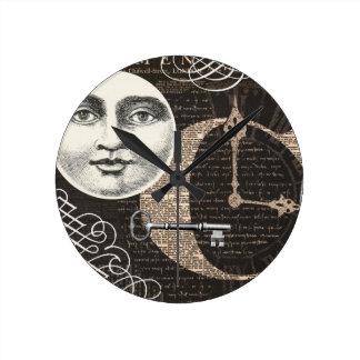 ヴィンテージのTimeworksの…柱時計 ラウンド壁時計