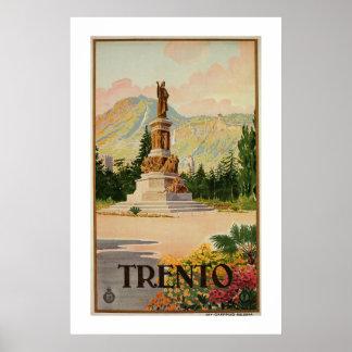 ヴィンテージのTrento Trentのイタリアンな旅行 ポスター