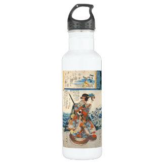 ヴィンテージのukiyo-eの芸者のUtagawaクラシックなスクロール ウォーターボトル