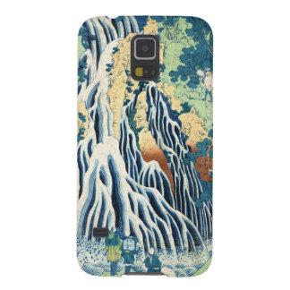 ヴィンテージのukiyo-eのHokusaiのクールな日本の滝 Galaxy S5 ケース