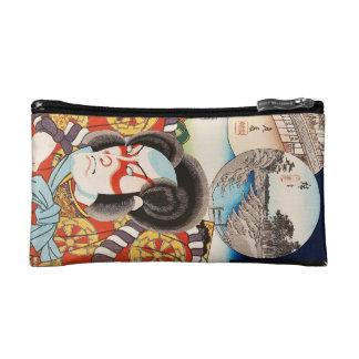 ヴィンテージのukiyo-eのkabukiの武士のUtagawaのクラシックな芸術 コスメティックバッグ