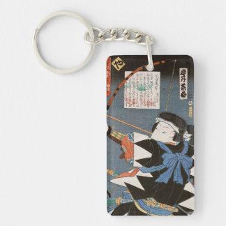 ヴィンテージのukiyo-eのkyudoの射手のUtagawaのクラシックな芸術 キーホルダー