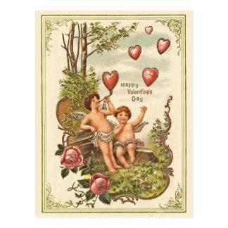 ヴィンテージのValentine s日の郵便はがき ポストカード