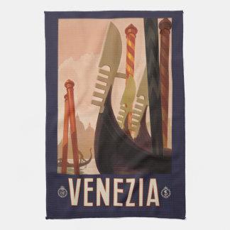 ヴィンテージのVeneziaベニスイタリア手タオル キッチンタオル