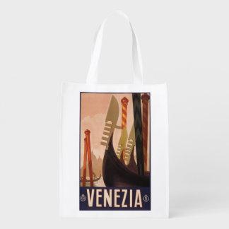 ヴィンテージのVenezia (ベニス)イタリアのエコバッグ エコバッグ