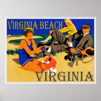 ヴィンテージのVirginia Beach場面 ポスター