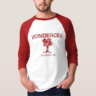 ヴィンテージのVondercekの製材 Tシャツ