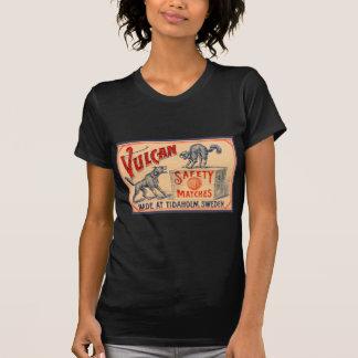 ヴィンテージのVulcanの安全マッチのラベル Tシャツ