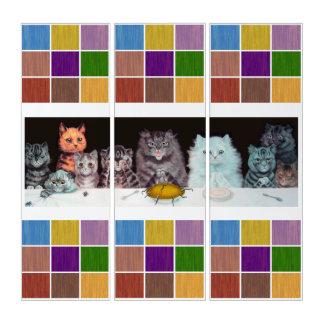 ヴィンテージのWain猫の夕食の芸術 トリプティカ