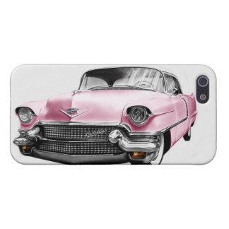 ヴィンテージはキャデラックのピンクの容器のiPhone 5/5sの箱を飾ります iPhone 5 カバー