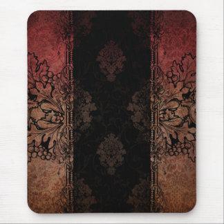 ヴィンテージはダマスク織のマウスパッドを刻みました マウスパッド