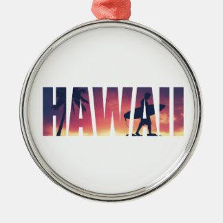 ヴィンテージはハワイの郵便はがきをろ過しました メタルオーナメント