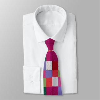 ヴィンテージはパッチワークの多彩でユニークなデザインを編みました ネクタイ