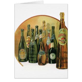 ヴィンテージはビール瓶、アルコール、飲料を輸入しました カード