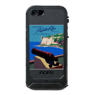 ヴィンテージはプエルトリコ米国WPAポスターを発見します ウォータープルーフiPhone SE/5/5sケース