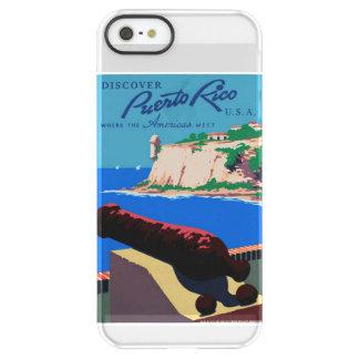 ヴィンテージはプエルトリコ米国WPAポスターを発見します PERMAFROST iPhone SE/5/5sケース