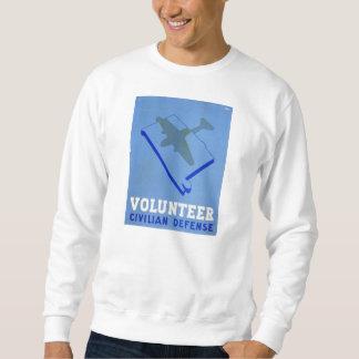 ヴィンテージは一般市民の防衛WPAポスターを自ら申し出ます スウェットシャツ