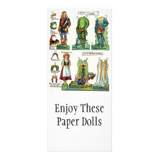 ヴィンテージは人形の昇進カードを壁紙を張ります ラックカード