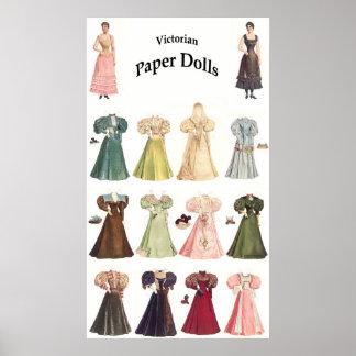 ヴィンテージは人形、2の2を壁紙を張ります ポスター