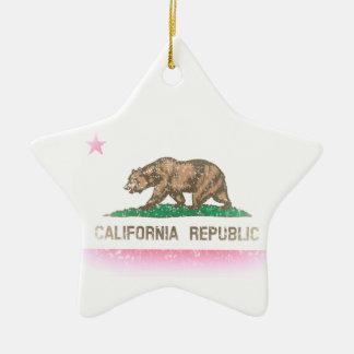 ヴィンテージは旗カリフォルニア衰退します セラミックオーナメント