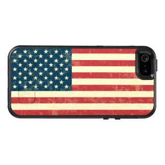 ヴィンテージは米国旗米国衰退しました オッターボックスiPhone SE/5/5s ケース