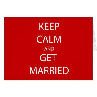 ヴィンテージは結婚するために平静を保ちます カード