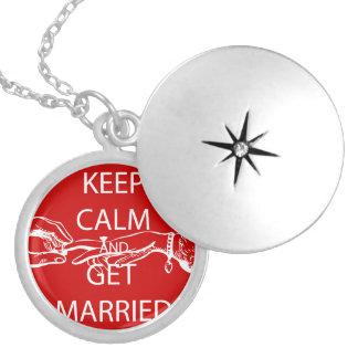 ヴィンテージは結婚するために平静を保ちます シルバープレートネックレス