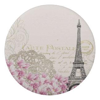 ヴィンテージは花柄、hinaパターンエッフェル塔を飾ります 消しゴム