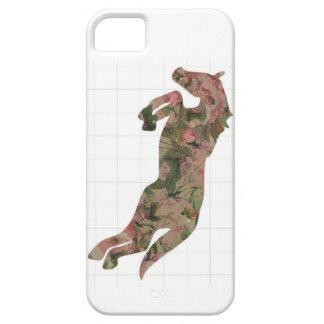 ヴィンテージは跳躍の馬のiphone 5カバー上がりました iPhone SE/5/5s ケース