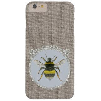 ヴィンテージは《昆虫》マルハナバチのiPhone 6のプラスの箱を組み立てました Barely There iPhone 6 Plus ケース