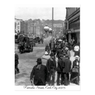 ヴィンテージアイルランドのパトリックの通り、コルク1903年 ポストカード