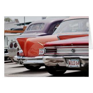 ヴィンテージアメリカのクラシックな車の恋人のNotecard グリーティングカード
