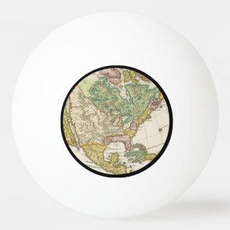 ヴィンテージアメリカの地図- Borealis 1699年 卓球ボール
