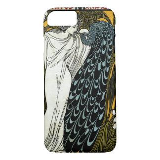 ヴィンテージアールヌーボーこのキス、孔雀を持つ女性 iPhone 8/7ケース