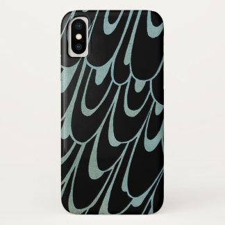 ヴィンテージアールヌーボーこのキス、孔雀を持つ女性 iPhone X ケース