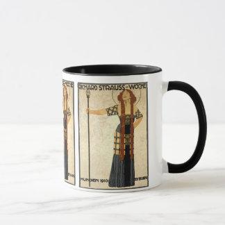 ヴィンテージアールヌーボーのビクトリアンな女性 マグカップ