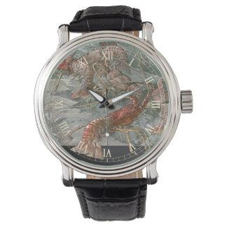 ヴィンテージアールヌーボーの海のロブスター 腕時計