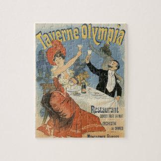 ヴィンテージアールヌーボーのTaverneのオリンピアのレストラン ジグソーパズル