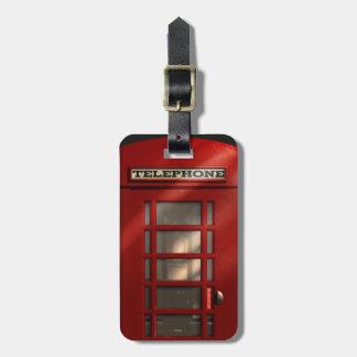 ヴィンテージイギリスの赤いPhonebox ラゲッジタグ