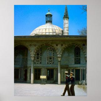 ヴィンテージイスタンブール、モスクおよびトルコの船員 ポスター