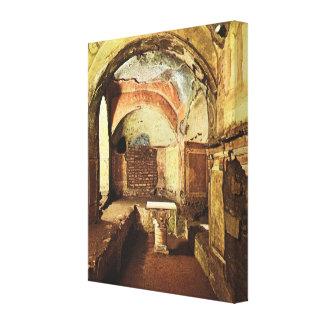 ヴィンテージイタリア、ベニス、ローマのPriscillaの地下墓地 キャンバスプリント