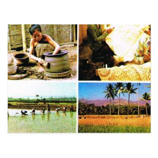 ヴィンテージインドネシアのJavaneseのライフスタイル ポストカード
