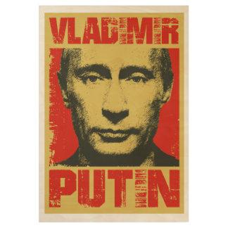 ヴィンテージウラジーミル・プーチン ウッドポスター