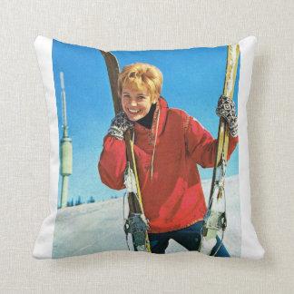 ヴィンテージオスロ、スキーヤー クッション